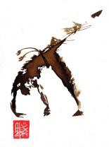 Illustration : Capoeira – 712 [ #capoeira #watercolor #illustration] aquarelle sur papier 325gr / watercolor on paper 325gr 12 x 16 cm / 4.7 x 6.30 in