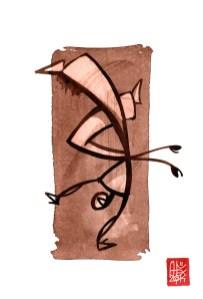 Illustration : Capoeira – 728 [ #capoeira #watercolor #illustration] aquarelle sur papier 325gr / watercolor on paper 325gr 24 x 32 cm / 9.4 x 12.6 in