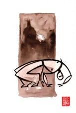 Illustration : Capoeira – 731 [ #capoeira #watercolor #illustration] aquarelle sur papier 325gr / watercolor on paper 325gr 24 x 32 cm / 9.4 x 12.6 in