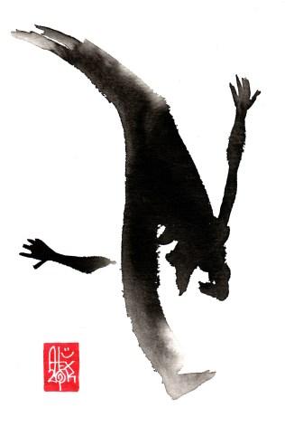 Illustration : Capoeira – 738 [ #capoeira #watercolor #illustration] aquarelle sur papier 325gr / watercolor on paper 325gr 24 x 16 cm / 9.4 x 6.3 in