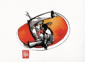 Illustration : Capoeira – 750 [ #capoeira #watercolor #illustration] aquarelle sur papier 325gr / watercolor on paper 325gr 24 x 32 cm / 9.4 x 12.6 in