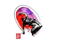 Illustration : Capoeira – 760 [ #capoeira #watercolor #illustration] aquarelle sur papier 325gr / watercolor on paper 325gr 24 x 32 cm / 9.4 x 12.6 in