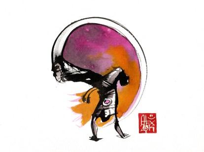 Illustration : Capoeira – 766 [ #capoeira #watercolor #illustration] aquarelle sur papier 325gr / watercolor on paper 325gr 24 x 32 cm / 9.4 x 12.6 in