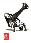 Illustration : Capoeira – 770 [ #capoeira #watercolor #illustration] aquarelle sur papier 325gr / watercolor on paper 325gr 12 x 16 cm / 4.7 x 6.30 in