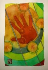 Illustration : Capoeira – 775 [ #capoeira #watercolor #illustration] encre sur toile / Ink on canvas 29.7 x 42 cm / 11.7 x 16.5 in