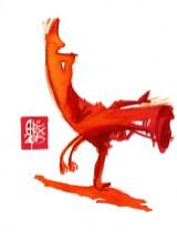 Illustration : Capoeira – 781 [ #capoeira #watercolor #illustration] aquarelle sur papier 325gr / watercolor on paper 325gr 20 x 15 cm / 7.9 x 5.9 in