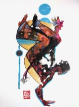 Illustration : Capoeira – 783 [ #capoeira #watercolor #illustration] aquarelle et acrylique sur papier 325gr / watercolor and acrylique on paper 325gr 24 x 32 cm / 9.4 x 12.6 in