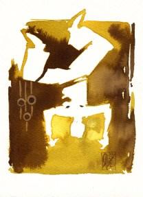 Illustration : Capoeira – 788 [ #capoeira #watercolor #illustration] aquarelle sur papier 325gr / watercolor on paper 325gr 19 x 14 cm / 7.5 x 5.5 in