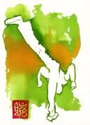 Illustration : Capoeira – 790 [ #capoeira #watercolor #illustration] aquarelle sur papier 325gr / watercolor on paper 325gr 19 x 14 cm / 7.5 x 5.5 in