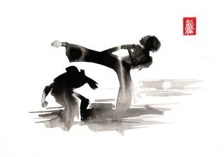 Illustration : Capoeira – 801 [ #capoeira #watercolor #illustration] aquarelle sur papier 300gr / watercolor on paper 300gr 21 x 29.7 cm / 8 x 11.6 in
