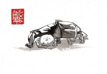 Illustration : Capoeira – 815 [ #capoeira #watercolor #illustration] aquarelle sur papier 300gr / watercolor on paper 300gr 10.5 x 14.8 cm / 4.1 x 5.8 in