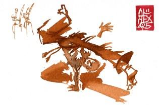 Illustration : Capoeira – 822 [ #capoeira #watercolor #illustration] aquarelle sur papier 300gr / watercolor on paper 300gr 10.5 x 14.8 cm / 4.1 x 5.8 in