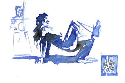 Illustration : Capoeira – 823 [ #capoeira #watercolor #illustration] aquarelle sur papier 300gr / watercolor on paper 300gr 10.5 x 14.8 cm / 4.1 x 5.8 in