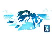 Illustration : Capoeira – 825 [ #capoeira #watercolor #illustration] aquarelle sur papier 300gr / watercolor on paper 300gr 10.5 x 14.8 cm / 4.1 x 5.8 in