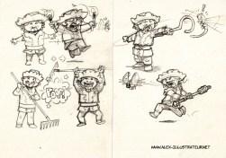 Les Huns de Jardin Croquis page 1