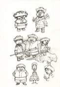 Les Huns de Jardin Croquis page 2