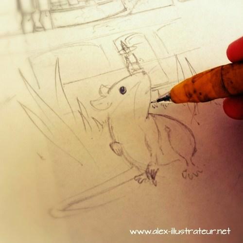 Une souris qui s'est perdue... dans le mauvais quartier.