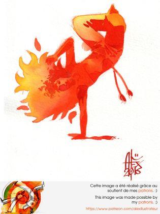 Aquarelle sur papier 300gr / watercolor on paper 300gr 21 x 14.8 cm / 8.2 x 5.8 in