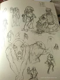 Après j'ai commencé à rechercher une posture intéressante pour ce type de personnage sans trop tomber dans le cliché.
