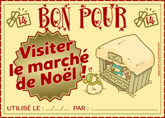 14 décembre : Bon pour faire un tour au marché de Noël à imprimer et donner à qui vous voulez !