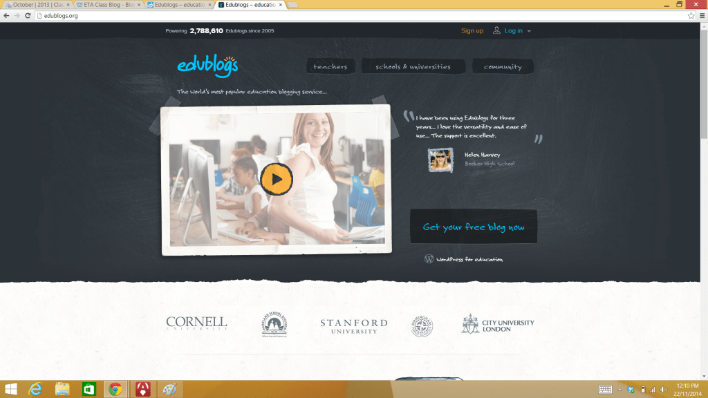 Edublogs site