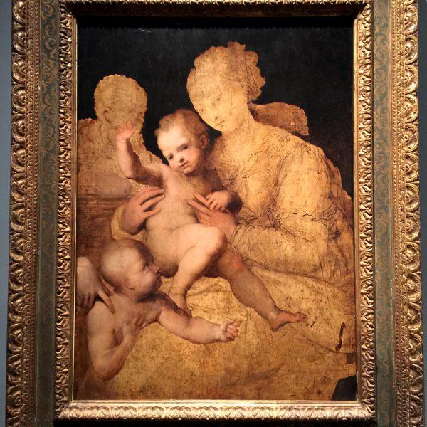 """Holy Family with Saint John the Baptist"" 1528-30"