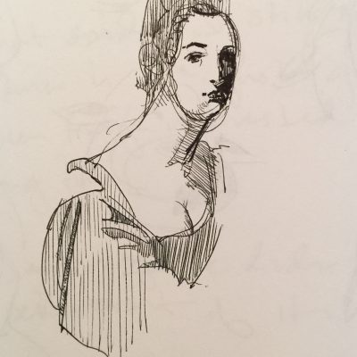John Graham inspired Italian Lady study.