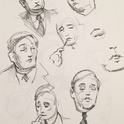 Caricature drawings of William F. Buckley.  Because he's just perfect.