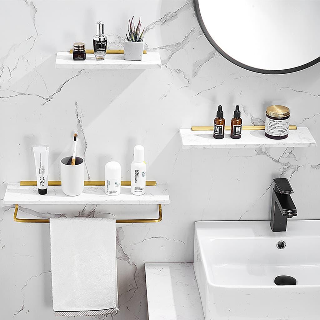 murale salle de bain sans percer design