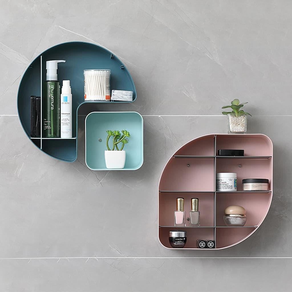 etagere murale salle de bain sans percer design
