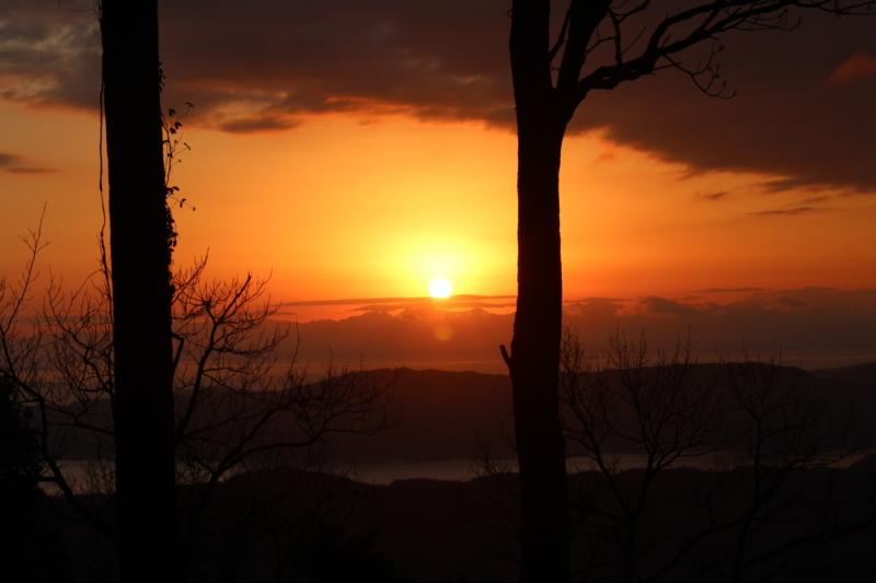 野登呂山からの初日の出
