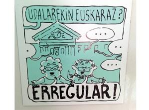 """""""Udalarekin euskaraz? Erregular!"""" kanpaina jarri du martxan Eibarko Udaleko Euskara Sailak"""
