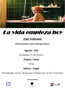 """""""La vida empieza hoy"""" zine-foruma, Pagatxak antolatuta"""
