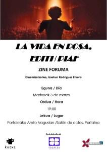 """""""La vida en Rosa, Edith Piaf"""" Zine-Forum"""