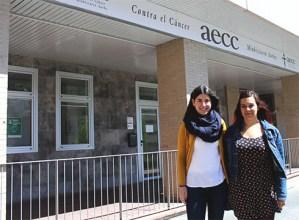 """Miriam Marquez eta Ainhoa Oregi (AECC): """"Hona etortzea positiboa izan da bai gaixoentzat, bai senideentzat"""""""