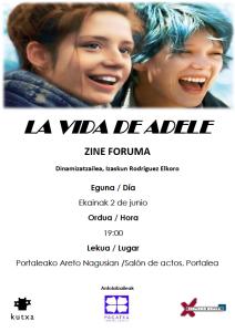 """Zine Foruma, """"La vida de Adele"""" filmarekin"""