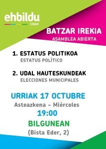 Batzar Irekia (Eibarko EH Bildu) @ Bilgunea (Bista Eder, 2)