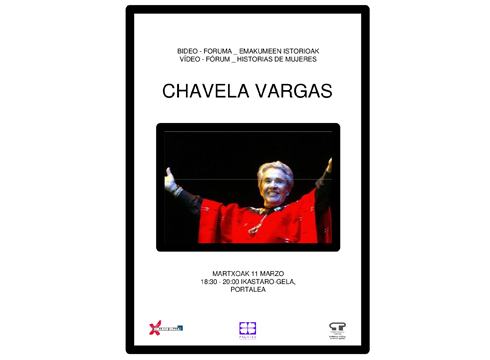 Chavela Vargas abeslariari buruzko bideoforuma antolatu du gaurko Pagatxa emakume taldeak