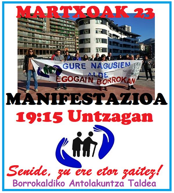 egogain kartela euskaraz manifestazioa