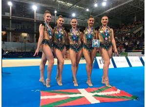 Ipurua gimnasia taldeko seniorrek brontzezko domina eskuratu dute Espainiako Kopan
