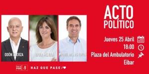 Ekitaldi politikoa @ Anbulatorio pareko parkean