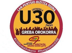 Greba Orokorraren inguruko manifestazio nagusia 12:30ean irtengo da Untzagatik