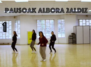 """""""Feminismoa gorpuztu"""" dantza eta flashmob kolektiborako koreografiak Youtuben daude"""