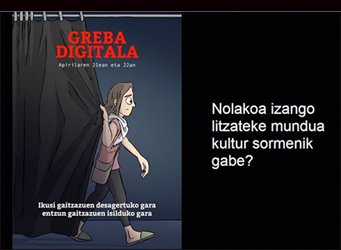 Euskal kulturgintzatik deitu den greba digitalarekin bat egin du etakitto.eus-ek