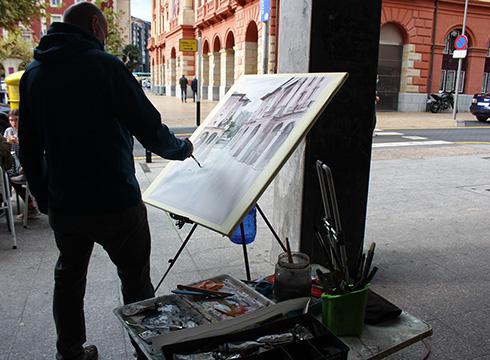 45 artistak hartu zuten parte XLIII. Aire Zabaleko Pintura Lehiaketan