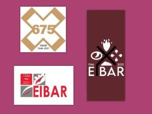 Eibarko 675. urteurreneko hiru logotipo finalisten artean irabazlea aukeratzeko botazioa zabaldu dute
