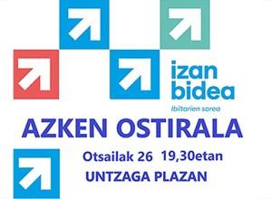 Eibarko Sarek deituta gaur 19:30ean egingo den manifestazioan parte hartzeko deia egin dute