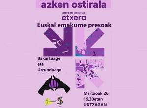 Euskal emakume presoak gogoratzeko ekimena egingo da gaur arratsaldean Untzagan