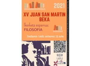 XV. Juan San Martin beka deialdia kalean da: filosofia arloko proiektuak aurkeztu ahal izango dira aurten
