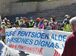 Pentsio duinen aldeko bizikleta martxa Eibarrera heldu da
